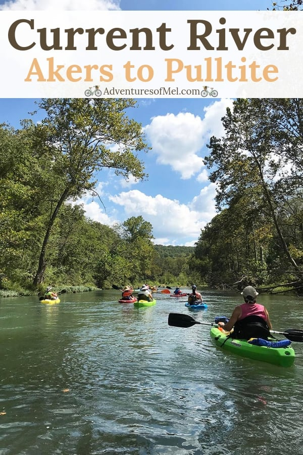 float trips in Missouri on the Current River, Akers to Pulltite