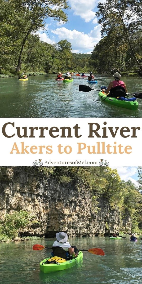 Missouri float trips on the Current River, from Akers Ferry to Pulltite Campground