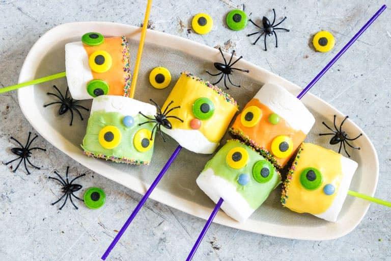 Monster Marshmallow Pops Halloween Treats