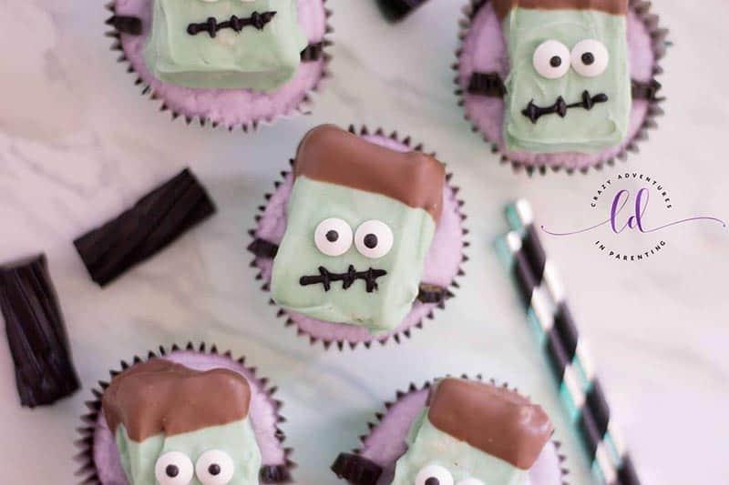 Frankenstein Cupcakes Halloween Treats