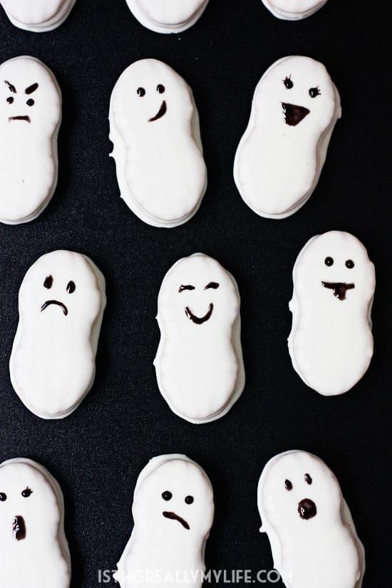Nutter Butter Ghosts Halloween Treats