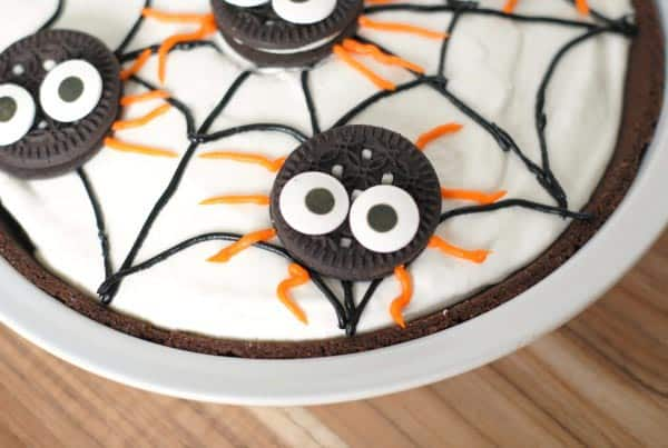 No Bake Spider Pudding Pie Easy Halloween Treats