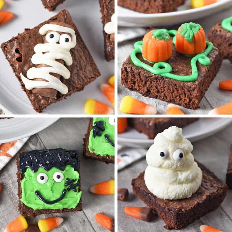 easy Halloween treats recipes, including spooky halloween brownies