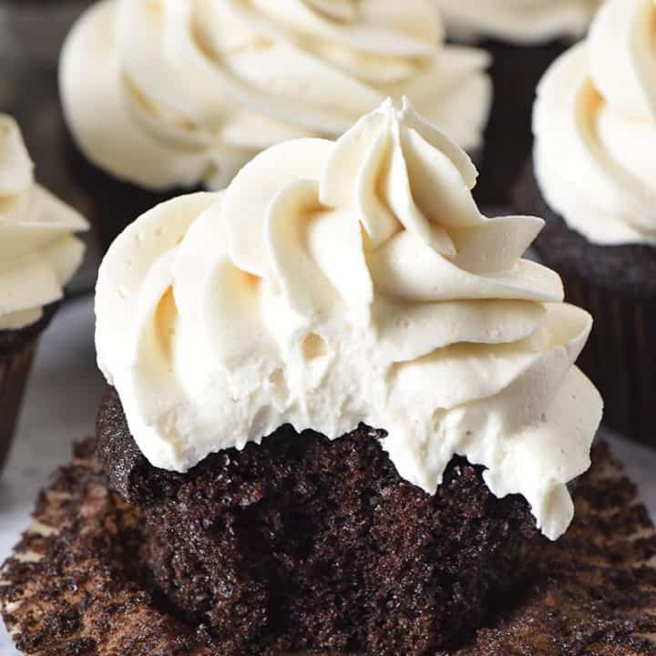 Moist and Fluffy Chocolate Cupcakes