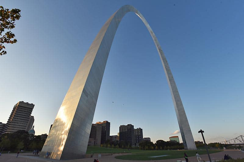 ends of the Arch in Gateway Arch National Park in Saint Louis
