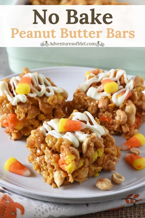 no bake peanut butter bars with candy corn and peanuts recipe