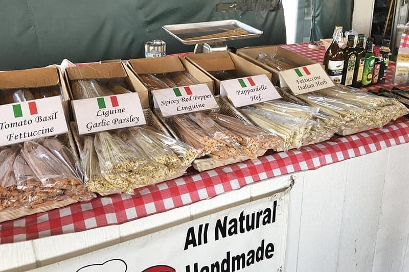 handmade pasta at Soulard Market St. Louis