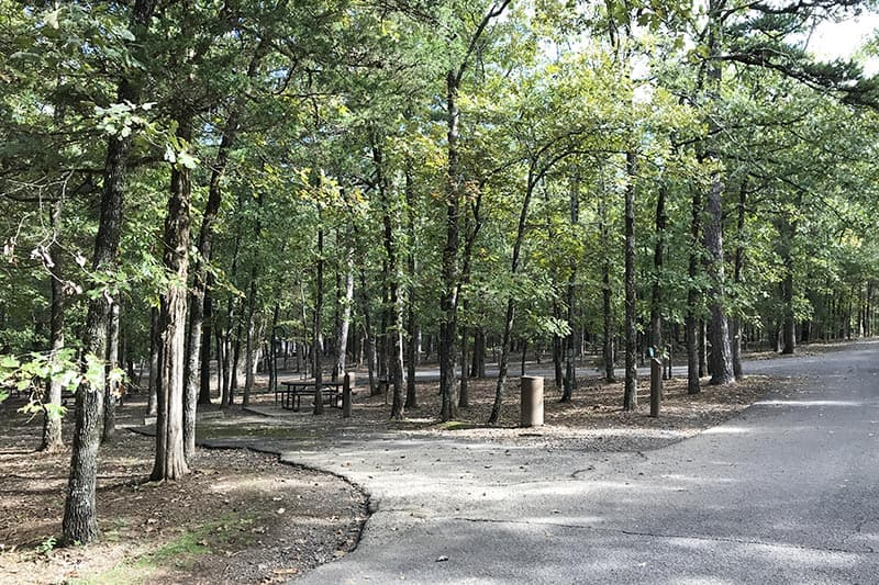 campsites in Petit Jean State Park campground