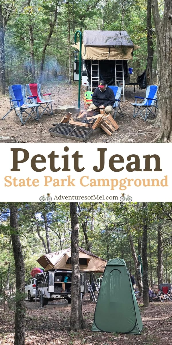camping at Petit Jean State Park in Arkansas
