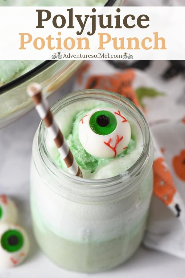 Polyjuice Potion Halloween Drink recipe with Harry Potter theme