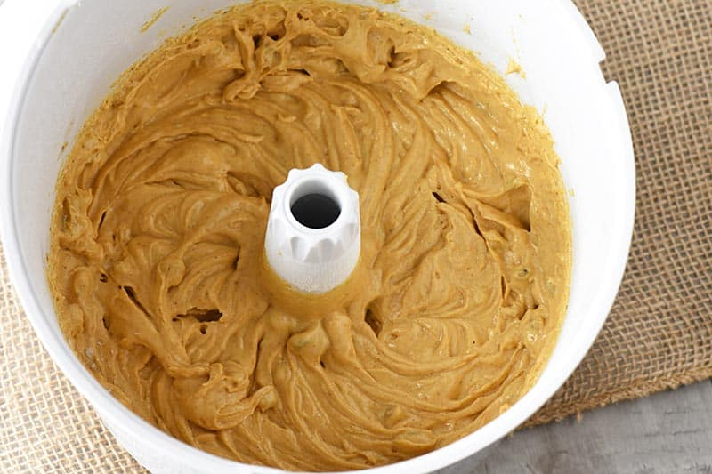 homemade pumpkin bread recipe dough in WonderMix mixer bowl
