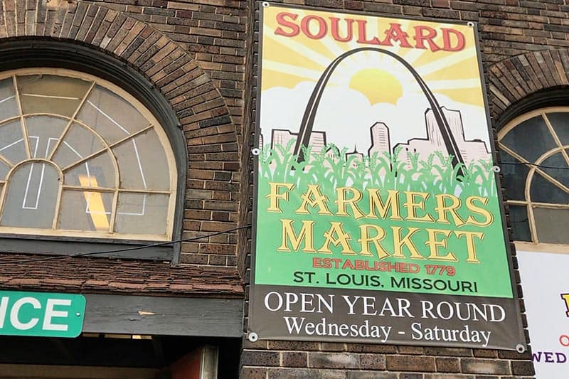Soulard Market Sign outside the St. Louis Farmer's Market