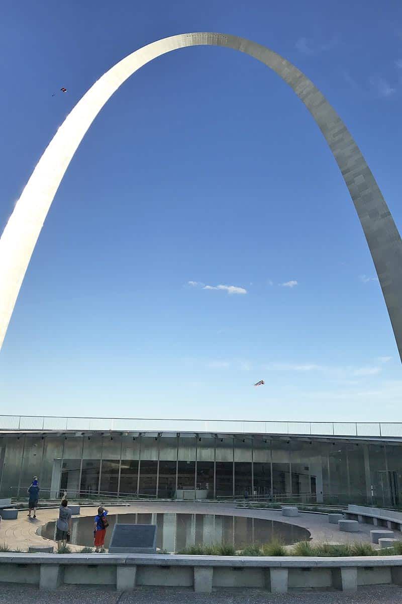 entrance to the Arch in Gateway Arch National Park, St. Louis, Missouri