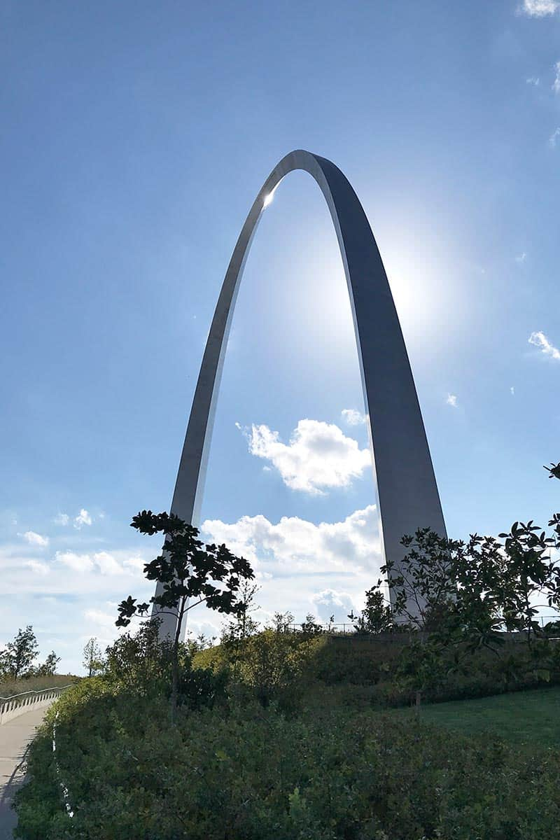trail to the Arch in St. Louis
