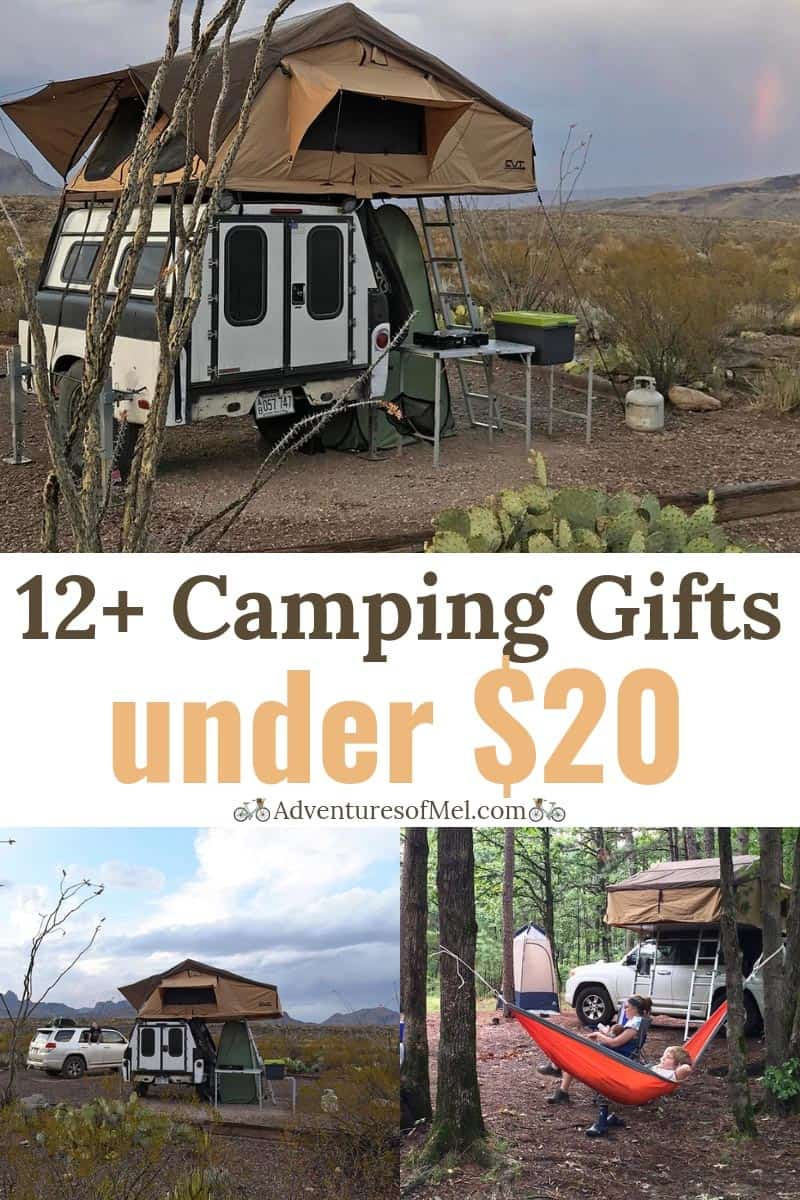 camping gift guide with 12 gift ideas under $20