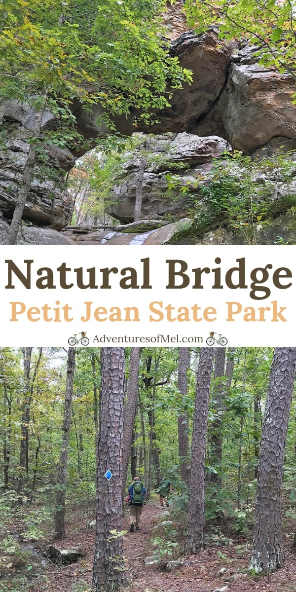 Hiking Seven Hollows Trail to Natural Bridge in Petit Jean State Park