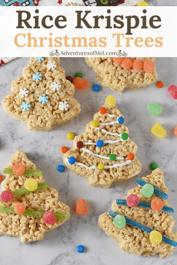recipe for Christmas tree marshmallow treats