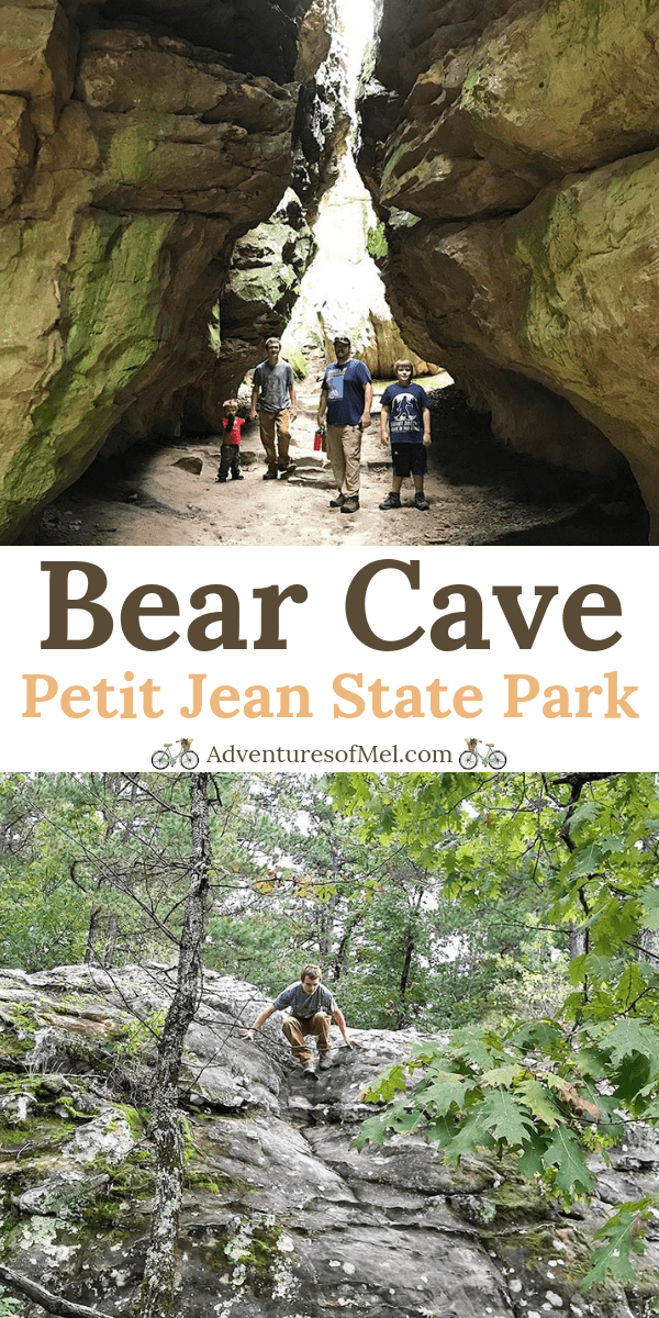 Hiking Bear Cave Trail in Petit Jean State Park