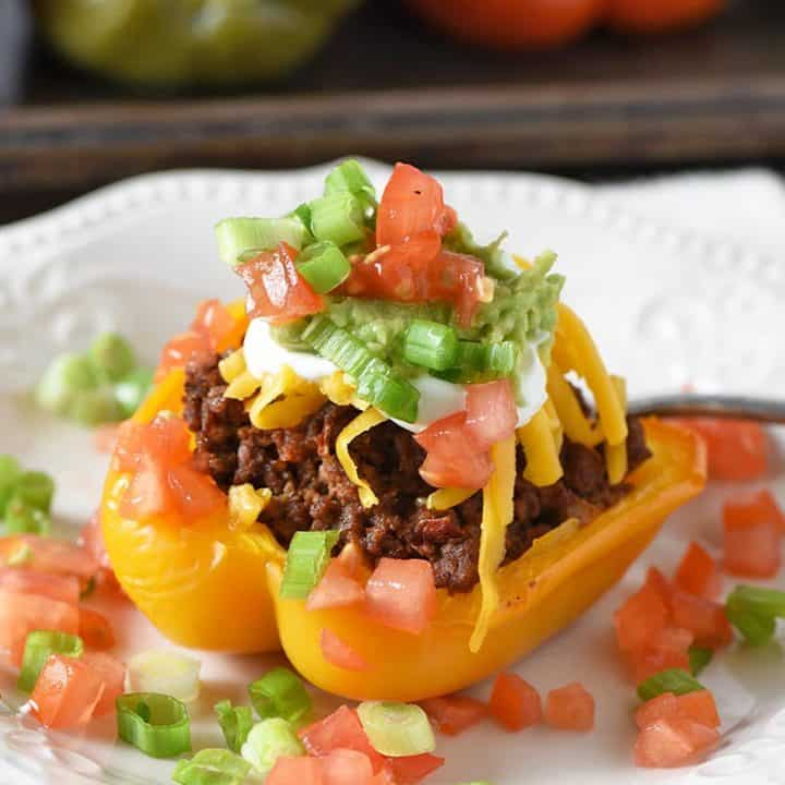 ground beef taco stuffed peppers
