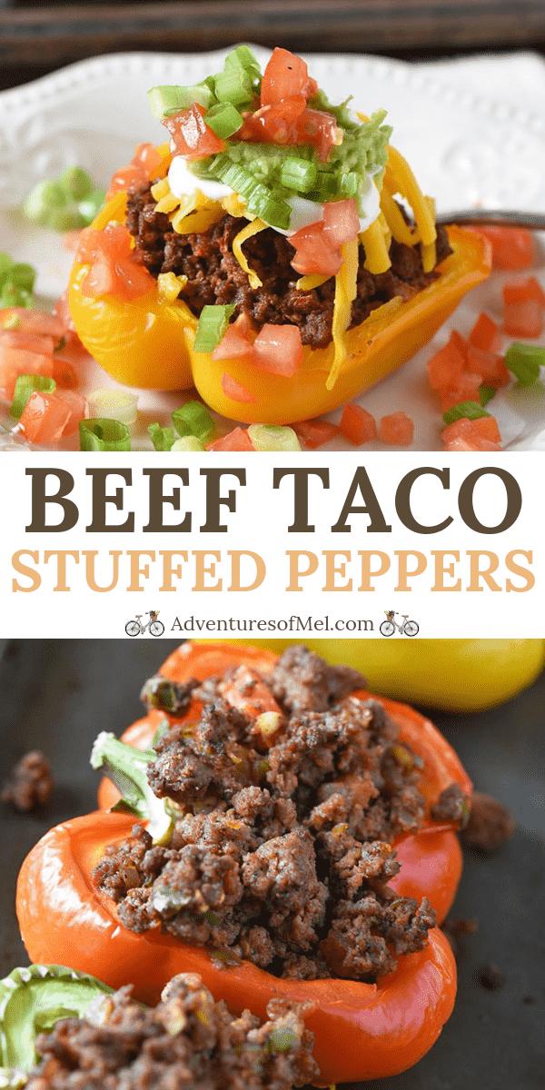 Beef Taco Stuffed Peppers Recipe