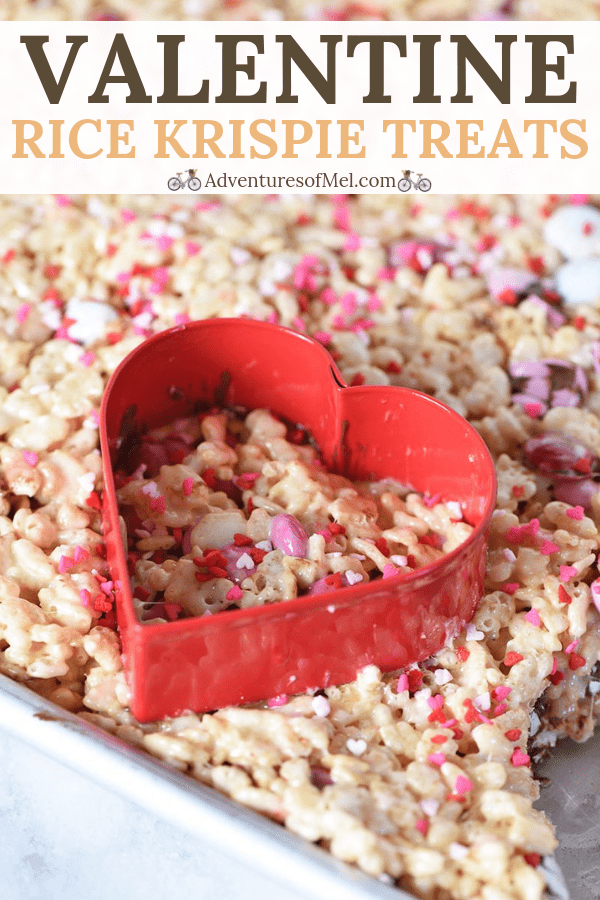 Valentine heart shaped Rice Krispie treats recipe