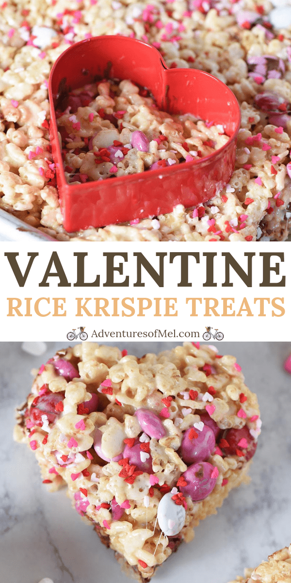 M&M's Heart Shaped Valentine Rice Krispie Treats Recipe