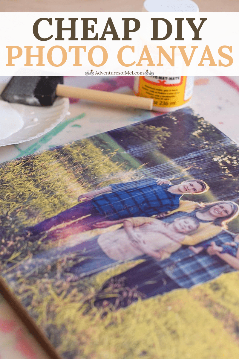 Cheap DIY photo canvas tutorial