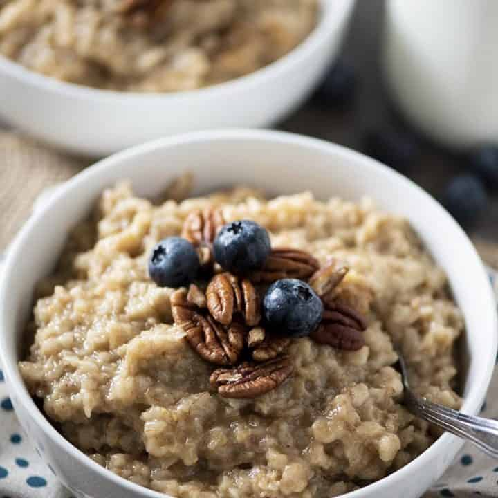 Perfectly Cooked Maple Brown Sugar Oatmeal