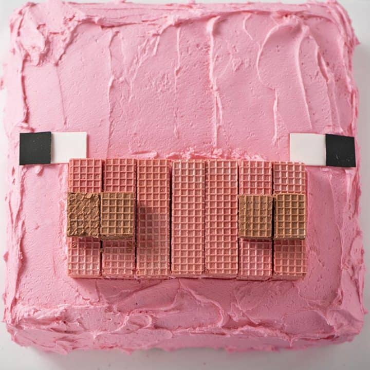 Easiest Minecraft Pig Cake Ever