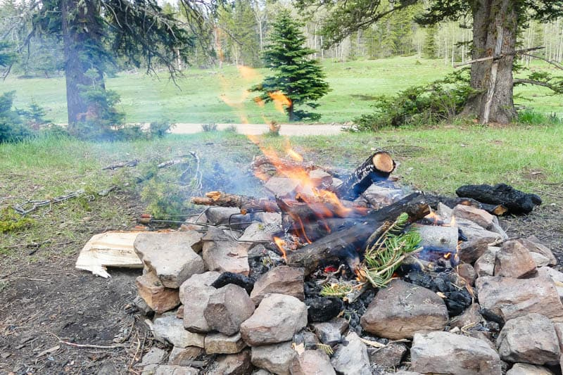 campfire for outdoor cooking
