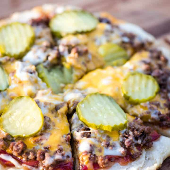 Hamburger Pizza on a Campfire