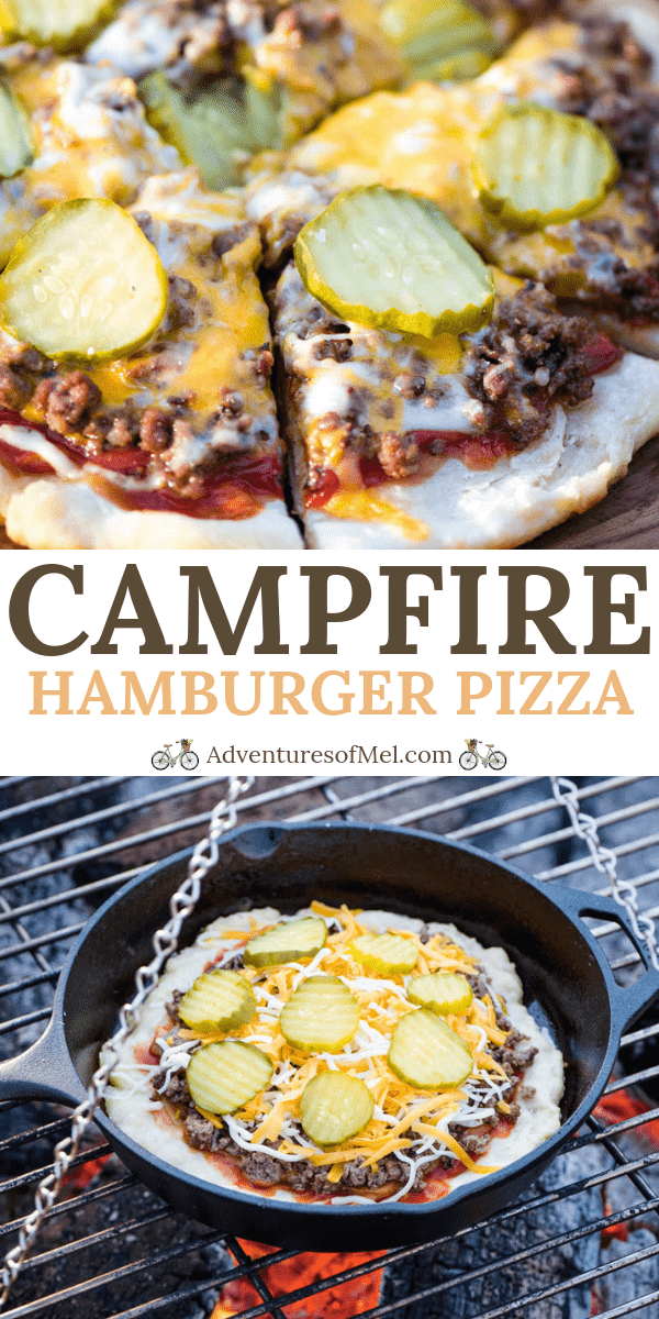 hamburger pizza on a campfire recipe