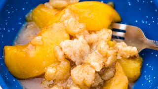 Easy Campfire Peach Cobbler Recipe