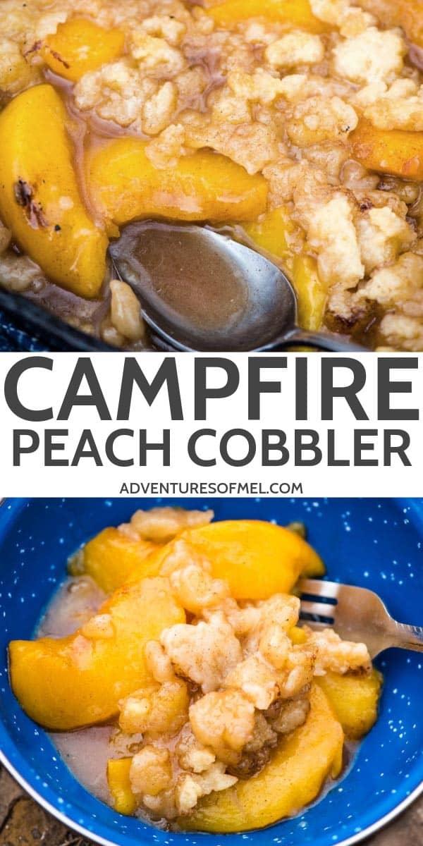 easy campfire peach cobbler recipe