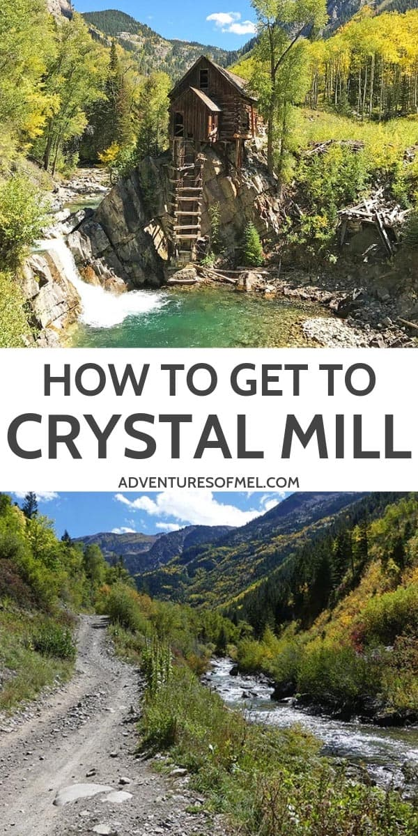 how to drive to Crystal Mill from Marble, Colorado
