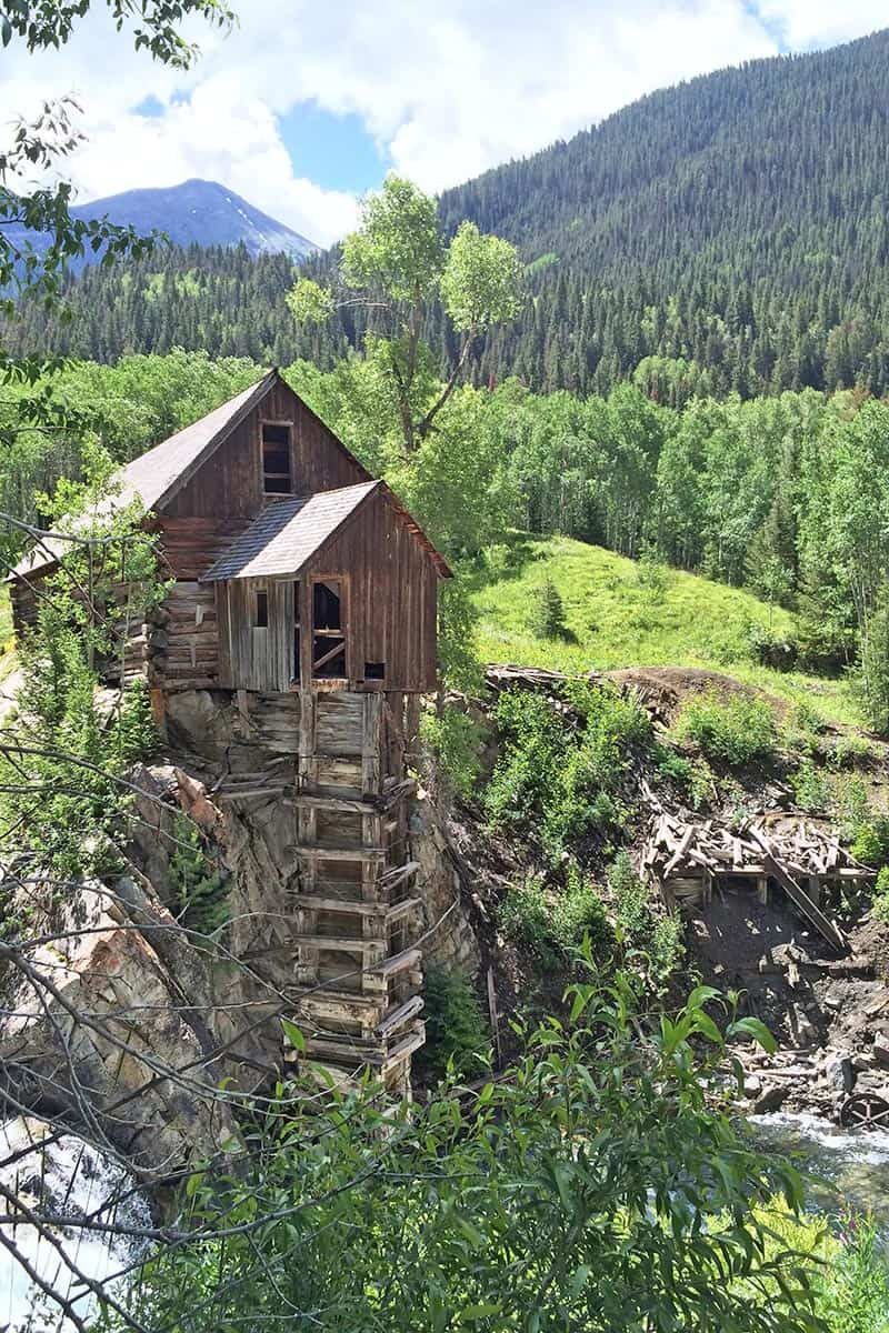 Crystal Mill on the Crystal River in the Maroon Bells Wilderness in Colorado