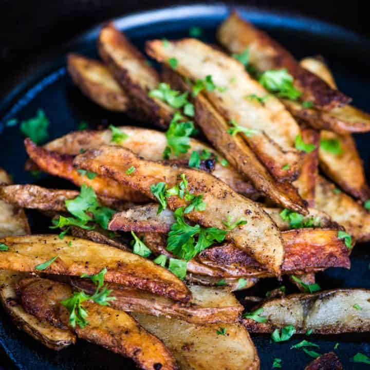 Crispy Seasoned Steak Fries over the Campfire
