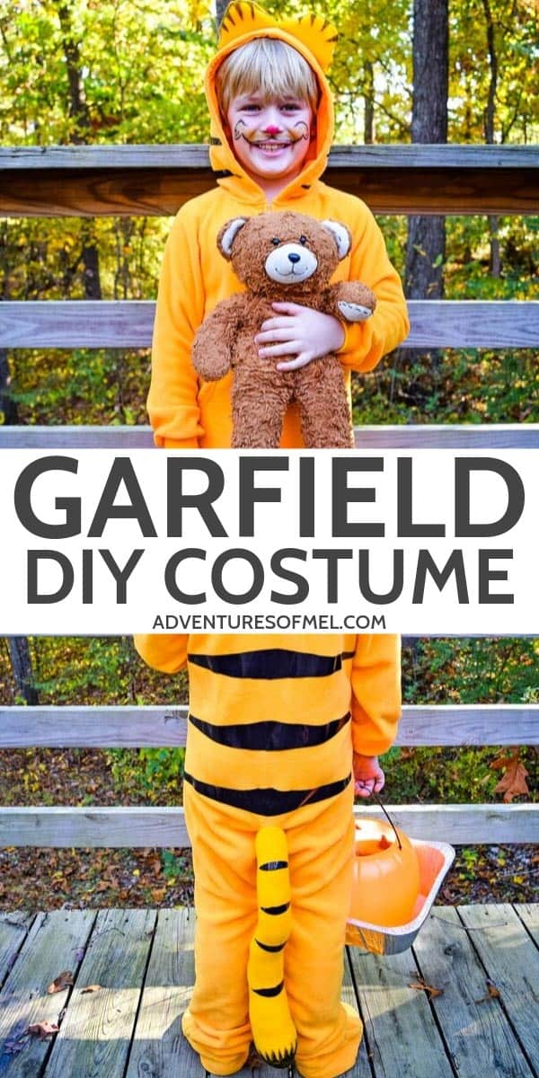 DIY Garfield Halloween Costume