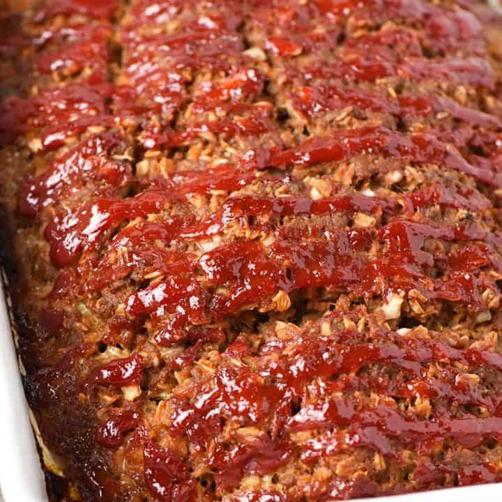 Not Your Mama's Easy Meatloaf Recipe with Oatmeal