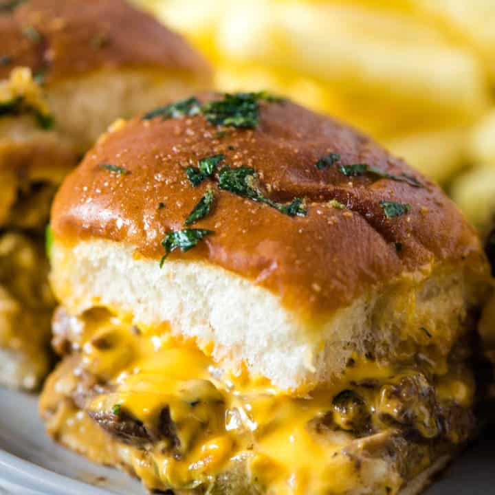 The Best Philly Cheesesteak Sliders Ever