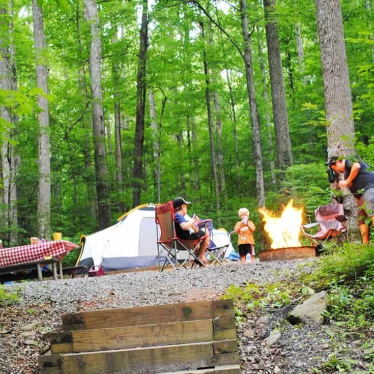 Camping at Cosby Campground in Great Smoky Mountains National Park