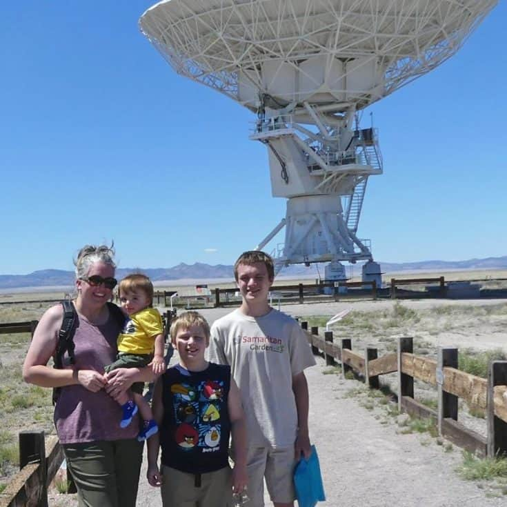 Very Large Array in New Mexico with Kids