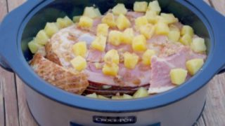 Crock-Pot® Slow Cooker Pineapple Ham Recipe and Freezer Meal All in One