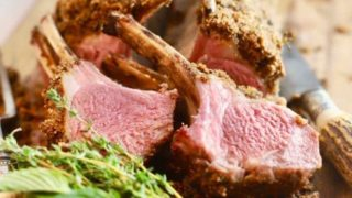 Roasted Rack of Lamb with Garlic and Herbs