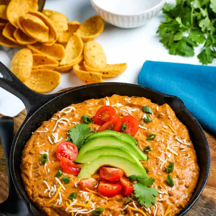 Easy Chili Cheese Dip {Microwave, Oven, or CrockPot}