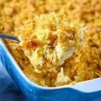 spoonful of hash brown casserole